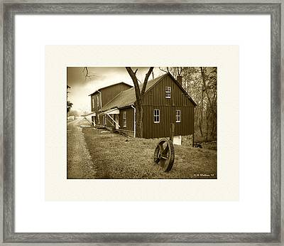 Williston Mill - Sepia Framed Print by Brian Wallace