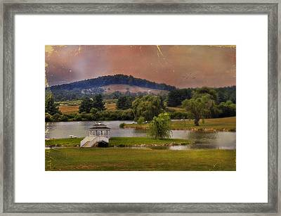 Willow Lake Series II  Framed Print by Kathy Jennings