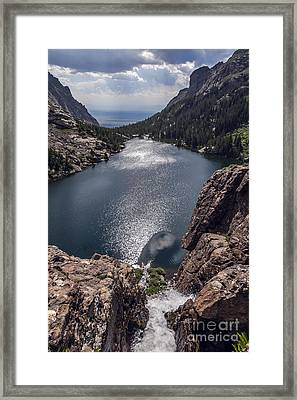 Willow Lake Waterfall Framed Print by Scotts Scapes