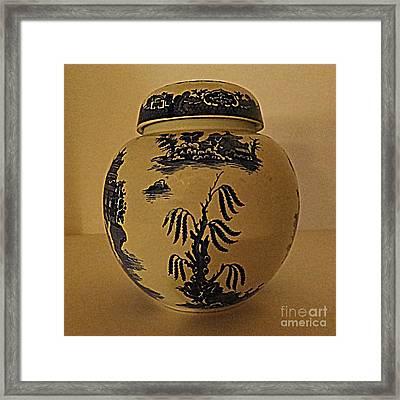 Willow Tea Jar Framed Print by Patricia Januszkiewicz