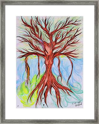Willow Woman Framed Print by Die Go Learn