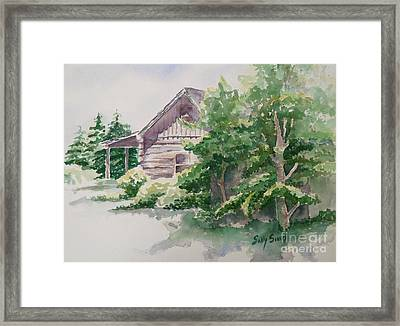 Framed Print featuring the painting Will's Cabin by Sally Simon