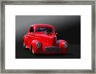 Willy Or Won't He Framed Print by Bill Dutting