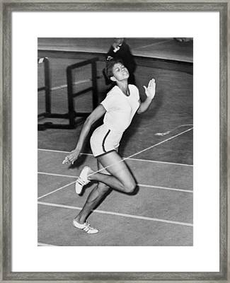 Wilma Rudolph Sets A World Record Framed Print by Everett