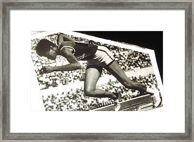 Wilma Rudolph, Winner Of 3 Gold Medals Framed Print by Everett