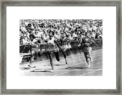 Wilma Rudolph, Winning The Womens Framed Print by Everett