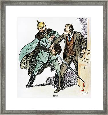 Wilson & The Kaiser: Framed Print by Granger