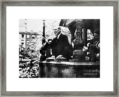 Wilson Campaigning, 1912 Framed Print by Granger