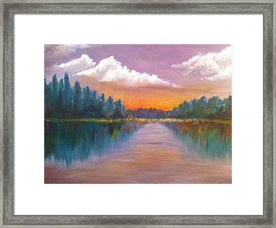 Wilson Lake  Framed Print