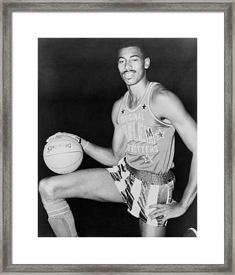 Wilt Chamberlain, Wearing Uniform Framed Print