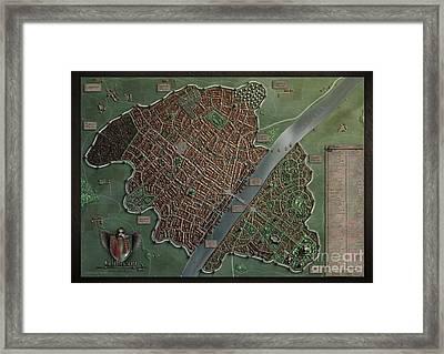 Wilthorm - A Fantasy City Framed Print by Markus Holzum