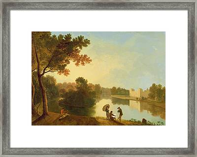 Wilton House From The South-east Framed Print by Richard Wilson