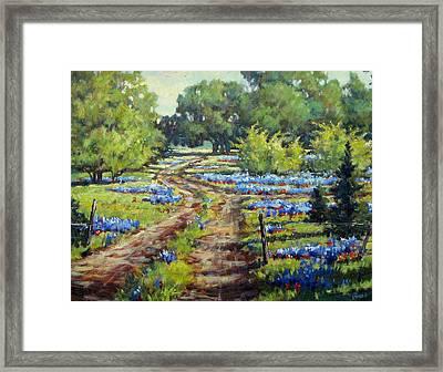 Wimberley's Bluebonnets Framed Print by Vickie Fears
