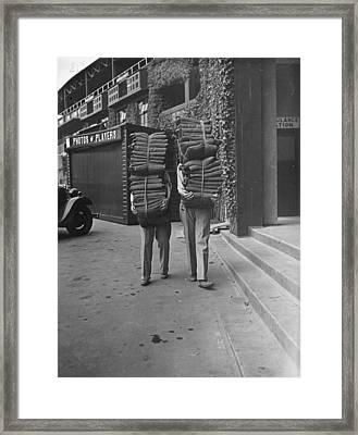 Wimbledon Cushions Framed Print by H F Davis