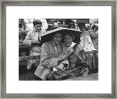 Wimbledon Rain Framed Print by Blandford