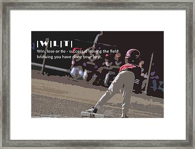 Win Lose Tie 2a Framed Print by Peter  McIntosh