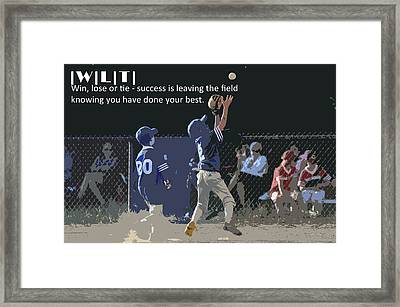 Win Lose Tie 3 Framed Print by Peter  McIntosh