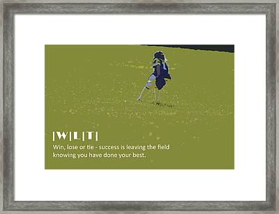Win Lose Tie 4 Framed Print by Peter  McIntosh