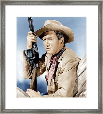 Winchester 73, James Stewart, 1950 Framed Print by Everett