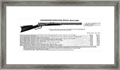 Winchester Rifle Ad, 1895 Framed Print by Granger