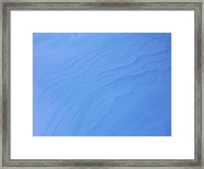 Wind And Ice Framed Print by