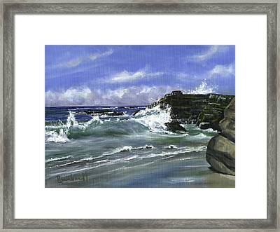 Wind And Sea II Framed Print by Lisa Reinhardt