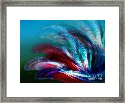 Wind And Waves Framed Print by Jutta Maria Pusl