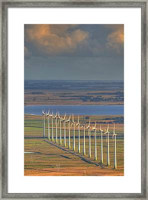 Wind Energy Framed Print by by Roberto Peradotto