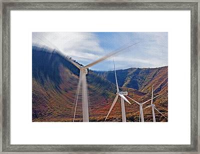 Wind Farm 2 Framed Print by Steve Ohlsen