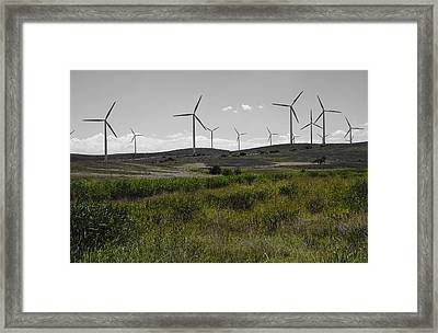 Wind Farm Iv Framed Print by Ricky Barnard