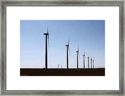 Wind Farm Framed Print by Leroy McLaughlin