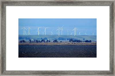 Wind Farm On The Delta Framed Print