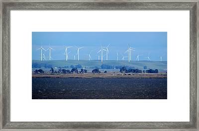 Wind Farm On The Delta Framed Print