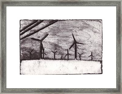 Wind Farming Framed Print by Taylor Lee Bisbee