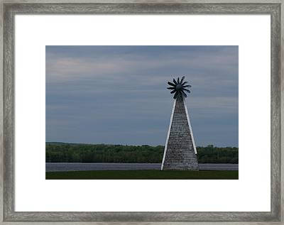 Framed Print featuring the photograph Wind Mill by Josef Pittner