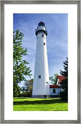 Wind Point Lighthouse Framed Print
