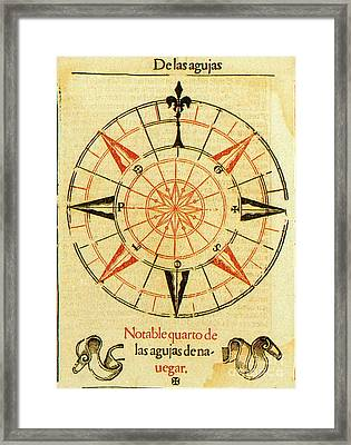 Wind Rose Framed Print by Science Source