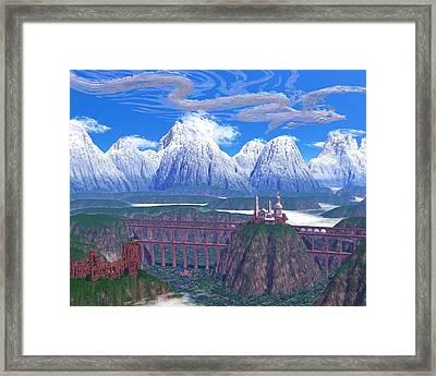 Wind Serpent Framed Print by Diana Morningstar