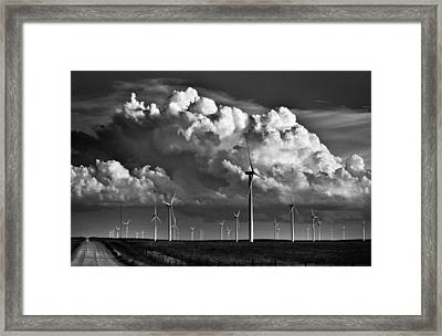 Wind Storm Framed Print