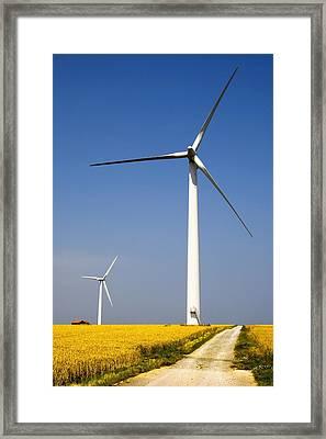 Wind Turbine, Humberside, England Framed Print by John Short