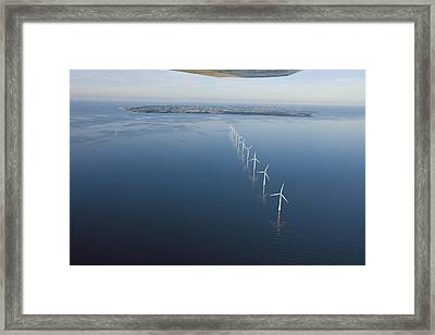 Wind Turbines Provide Energy Framed Print by Andrew Henderson