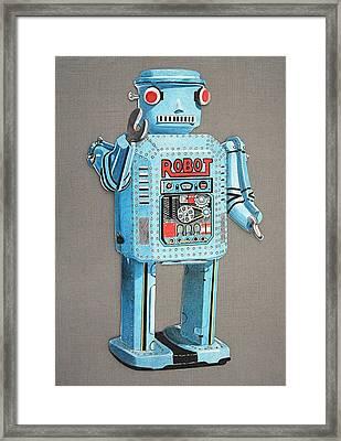 Wind-up Robot 2 Framed Print