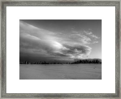 Framed Print featuring the photograph Windblown Cloud by Michele Cornelius