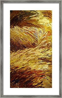 Windblown Grass Framed Print by Raette Meredith
