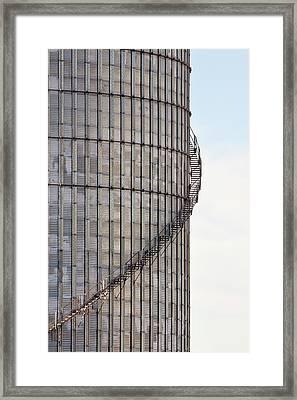 Winding Aluminum Stairs Framed Print by Ryan McGinnis