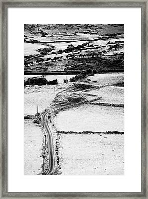 Winding Road Irish Countryside Framed Print