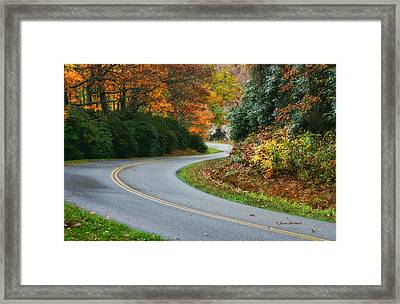 Framed Print featuring the photograph Winding Road by Joan Bertucci