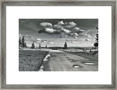 Framed Print featuring the photograph Winding Road by Mary Almond