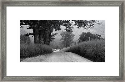 Winding Rural Road Framed Print by Andrew Soundarajan
