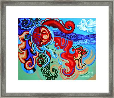 Winding Sun Framed Print by Genevieve Esson